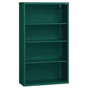 Elite Welded Bookcase - 4 Shelves - Forest Green