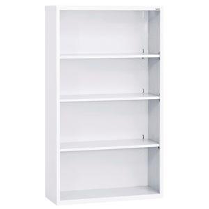Elite Welded Bookcase - 4 Shelves - White