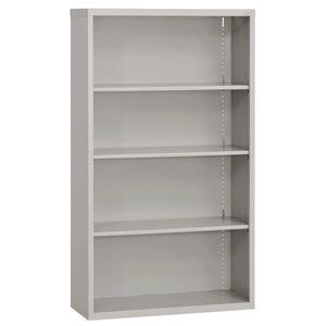 Elite Welded Bookcase - 4 Shelves - Granite