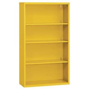 Elite Welded Bookcase - 4 Shelves - Yellow