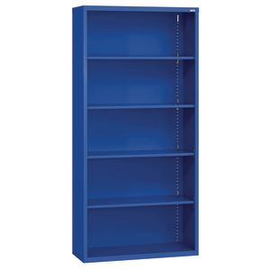 Elite Welded Bookcase - 5 Shelves - Blue