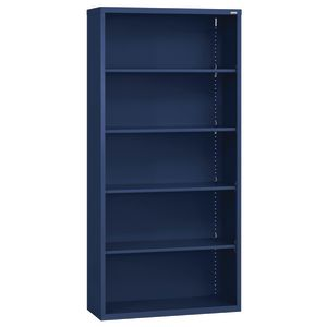 Elite Welded Bookcase - 5 Shelves - Navy