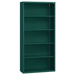 Elite Welded Bookcase - 5 Shelves - Forest Green