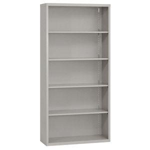 Elite Welded Bookcase - 5 Shelves - Granite
