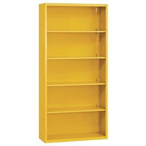 Elite Welded Bookcase - 5 Shelves - Yellow