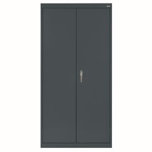 Large Locking Metal Cabinet - Charcoal