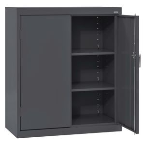 Small Locking Metal Cabinet - Charcoal