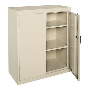 Small Locking Metal Cabinet - Putty