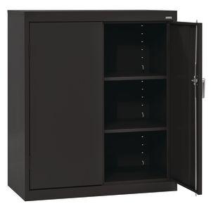 Small Locking Metal Cabinet - Black