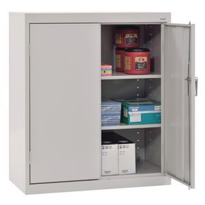 Small Locking Metal Cabinet - Dove Grey