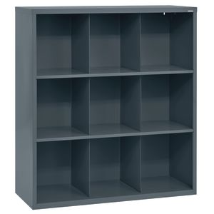 Cubbie Storage Organizer - 9 Cubbies - Charcoal