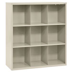 Cubbie Storage Organizer - 9 Cubbies - Putty