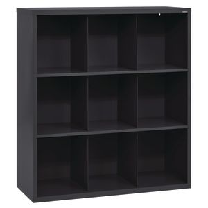 Cubbie Storage Organizer - 9 Cubbies - Black