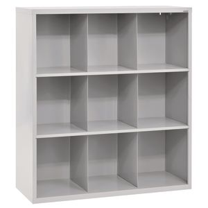 Cubbie Storage Organizer - 9 Cubbies - Dove Gray