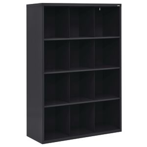 Cubbie Storage Organizer - 12 Cubbies - Black
