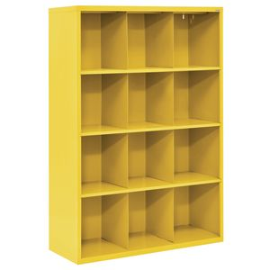 Cubbie Storage Organizer - 12 Cubbies - Yellow