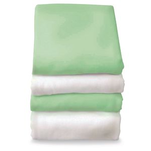 SafeFit™ Elastic Fitted Sheets - Set of 6 - Green