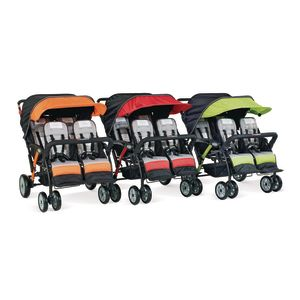 Foundations® Quad Sport™ 4-Passenger Stroller - Lime Green