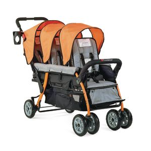 Trio Sport™ 3-Passenger Stroller - Orange