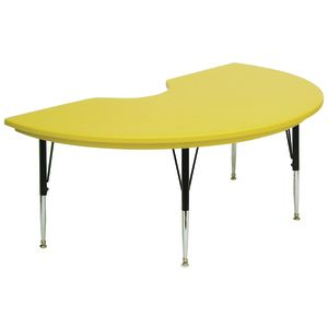 Lightweight Activity Table 48 x 72 Kidney, Low Leg - Yellow