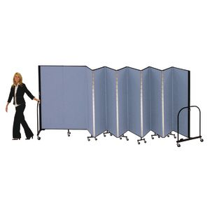"Portable Room Divider 5'9"" x 6' - Stone"