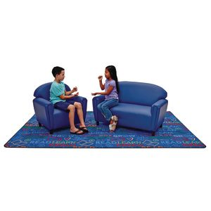School Age Sofa and Chair Set - Blue