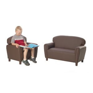 Enviro-Child Preschool Sofa and Chair Set - Brown