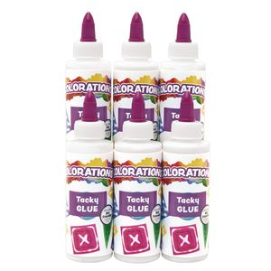 Colorations® Tacky Glue 4 oz. Set of 6