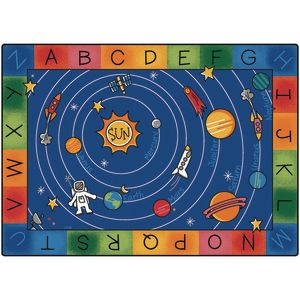 "Milky Play Literacy 4'5"" x 5'10"" Rectangle Premium Carpet"