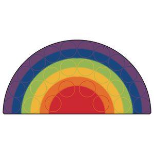 Rainbow Rows Rug - 6' x 12' Semi-Circle