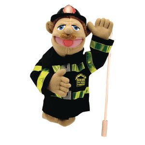 Melissa and Doug Firefighter Puppet with Detachable Wooden Rod
