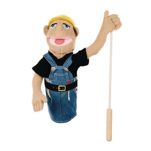 Melissa and Doug Construction Worker Puppet with Detachable Wooden Rod