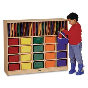 Mobile Classroom Organizer with Trays - Assorted Colors