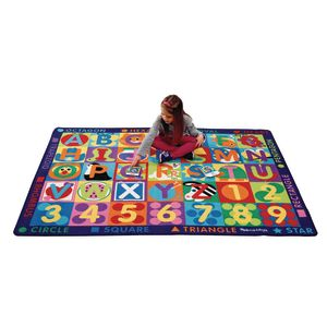 Melissa & Doug Jumbo ABC-123 Rug 58 X 79 with 36 Game Cards