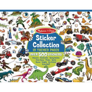 Melissa & Doug Sticker Collection Book: Dinosaurs, Vehicles, Space & More 500+ Stickers