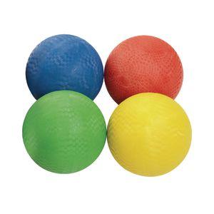Premium Rubber Playground Balls - Set of 4