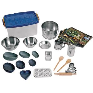 Mud Kitchen Accessory Set 37-Pieces and Storage