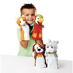 Playful Pets Hand Puppets Set of 4