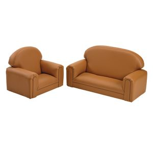Environments PVC-Free Mini Club Chair & Sofa - Tan
