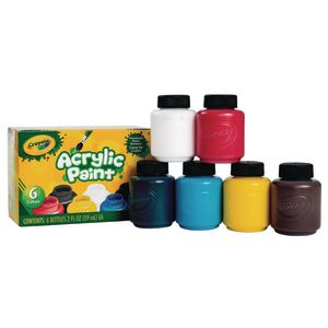 Crayola Acrylic Paints, Classic Colors, each 2oz.set of 6
