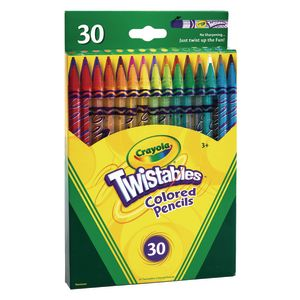 Twistable Pencils, 30 different colors, no sharpening just twist to use