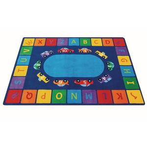 Alphabet Counting Cars Premium Carpet - 8' x 12' Rectangle