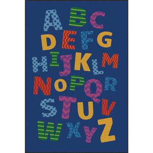 Alphabet Scramble Decorative Premium Carpet - 8' x 12' Rectangle