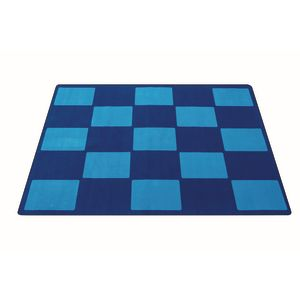 Checker Blue Premium Carpet - 6' x 9' Rectangle