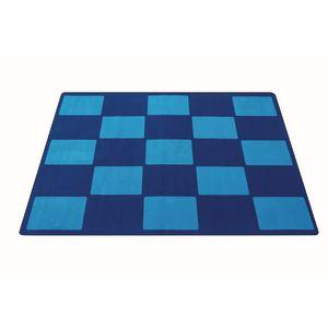 Checker Blue Premium Carpet - 8' x 12' Rectangle
