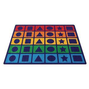 Rainbow Shapes Premium Carpet - 6' x 9'  Rectangle