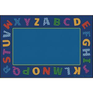Border Alphabet Scramble Premium Carpet - 6' x 9' Rectangle
