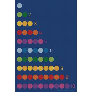 Counting Color Dots Premium Carpet - 6' x 9' Rectangle