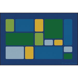 Color Block Cool Premium Carpet - 6' x 9' Rectangle
