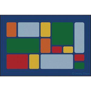 Color Block Primary Premium Carpet - 6' x 9' Rectangle